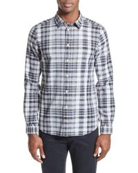 PS by Paul Smith | Gray Extra Trim Fit Plaid Linen Blend Sport Shirt for Men | Lyst