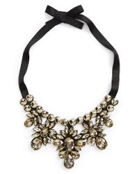 TOPSHOP | Black Crystal Statement Necklace | Lyst