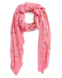 kate spade new york   Pink Camel March Scarf   Lyst