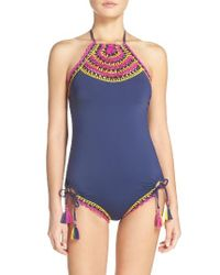 Becca | Blue Scenic Route One-piece Swimsuit | Lyst