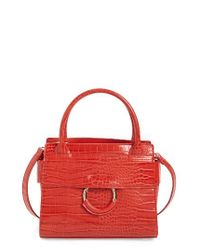 Sam Edelman | Red Mini Chiara Faux Leather Satchel | Lyst