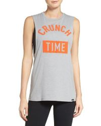 Adidas Originals - Gray Crunch Time Muscle Tank - Lyst