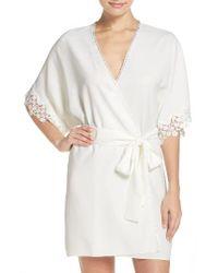 Flora Nikrooz | White Leslie Short Robe | Lyst