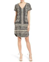 Lucky Brand | Black Print Tee Dress | Lyst
