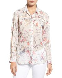 Kut From The Kloth Multicolor Eve Floral Print Blouse