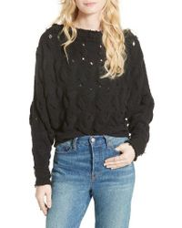 Free People | Black Desert Sands Cable Pullover | Lyst