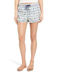 Roxy | Blue Here She Comes Print Shorts | Lyst