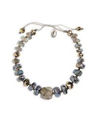 Chan Luu | Metallic Semiprecious Stone Beaded Bracelet | Lyst