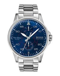 BOSS - Blue Hugo Aviator Multifunction Bracelet Watch for Men - Lyst