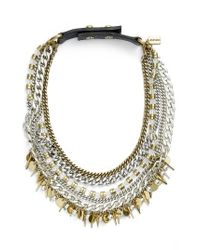 Jenny Bird | Black Talitha Multistrand Collar Necklace | Lyst