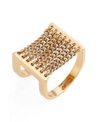 Jenny Bird | Metallic Canopy Adjustable Ring | Lyst