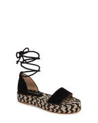 Splendid   Black Eliza Platform Ankle Wrap Espadrille   Lyst