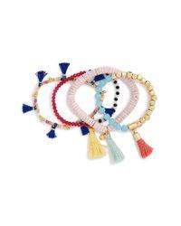 BaubleBar | Pink Quinn Set Of 4 Bracelets | Lyst