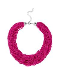 BaubleBar - Pink Myra Beaded Collar - Lyst
