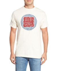 Rip Curl | White Blogger Graphic T-shirt for Men | Lyst