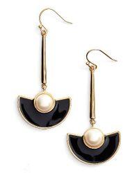 kate spade new york | Black Taking Shape Drop Earrings | Lyst
