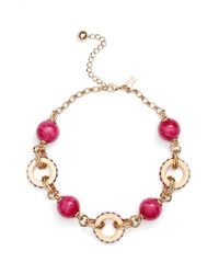 Kate Spade | Pink Second Nature Statement Collar Necklace | Lyst