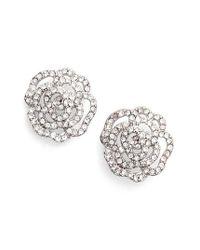 Kate Spade | Metallic Crystal Rose Stud Earrings | Lyst