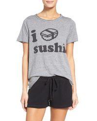 Chaser Gray I Love Sushi Tee
