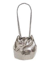 Whiting & Davis   Mesh Bucket Bag - Metallic   Lyst