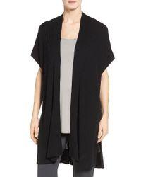 Eileen Fisher   Black Tencel Kimono Cardigan   Lyst