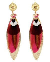 Gas Bijoux - Pink Large Sao Drop Earrings - Lyst