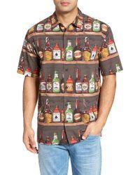 Jack O'neill | Gray Jack's Tavern Regular Fit Short Sleeve Print Sport Shirt for Men | Lyst