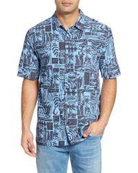 Jack O'neill   Blue Driftwood Regular Fit Short Sleeve Print Sport Shirt for Men   Lyst
