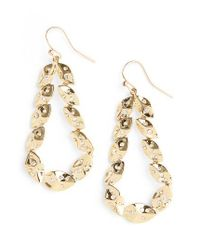 St. John | Metallic Swarovski Crystal Shimmer Leaf Earrings | Lyst