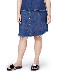 Rachel Roy | Blue Denim Button Front Skirt | Lyst