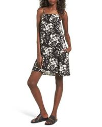 Mimi Chica | Black Mimichica Print Lattice Back Dress | Lyst