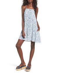 Mimi Chica | Blue Mimichica Print Lattice Back Dress | Lyst
