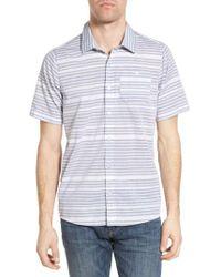 Travis Mathew - Blue Cana Slim Fit Sport Shirt for Men - Lyst