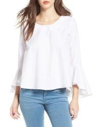 Soprano | White Bell Sleeve Top | Lyst