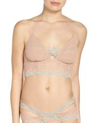Free People   Natural Sparks Fly Underwire Longline Bra   Lyst
