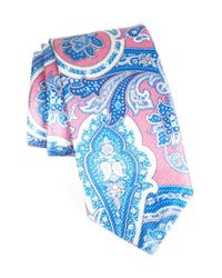 David Donahue - Blue David Donhaue Paisley Silk Tie for Men - Lyst