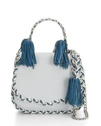 Rebecca Minkoff - Blue Chase Leather Saddle Bag - Lyst