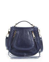 Rebecca Minkoff | Black Small Vanity Leather Saddle Bag | Lyst