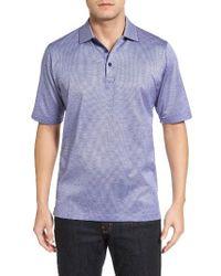 Bugatchi | Blue Mercerized Cotton Polo for Men | Lyst