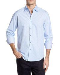 Stone Rose   Blue Slim Fit Dot Sport Shirt for Men   Lyst