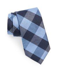 Calibrate | Blue Check Silk Tie for Men | Lyst