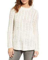 Velvet By Graham & Spencer | Natural Cable Knit Sweater | Lyst