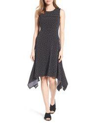 Vince Camuto | Black Nautical Dots A-line Dress | Lyst