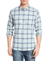 Grayers | Blue Kendal Textured Twill Sport Shirt for Men | Lyst