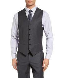 Ted Baker | Gray Jones Trim Fit Wool Vest for Men | Lyst