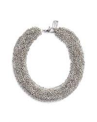 Karine Sultan | Metallic Adeline Collar Necklace | Lyst