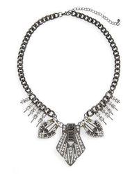 TOPSHOP | Metallic Statement Collar Necklace | Lyst