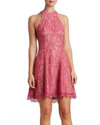 Dress the Population | Red Angie Halter Dress | Lyst