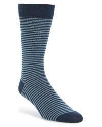 Pantherella | Blue Farringdon Stripe Socks for Men | Lyst