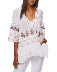 Free People | Multicolor You're Mine Peasant Tunic | Lyst